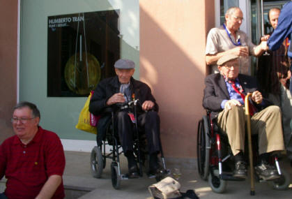With Jack Jones at the October 2008 anniversary in Stiges, near Barcelona.