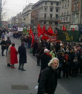Parade on O Connell Street.