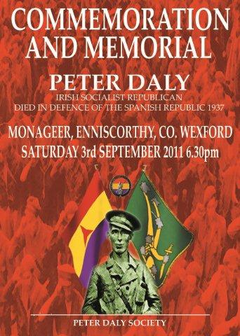 Peter Daly Commemoration, September 3rd.