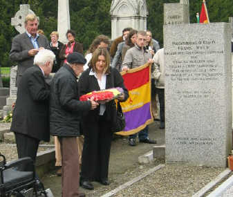Laying a wreath at the Frank Ryan commemoration, October 2005
