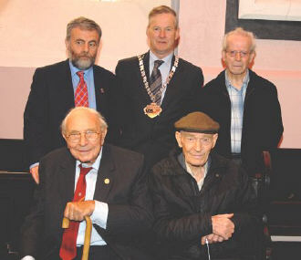 Jack Jones, Bob Doyle and Tom Maher, the Mayor of Kilkenny, with Jack O'Connor (SIPTU) and Paddy Murphy (GBMC)
