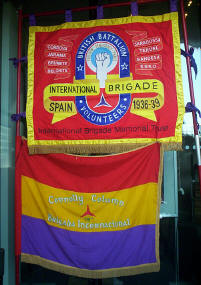 The IBMT and Connolly Column banners outside Liberty Hall 15th Oct. 2005.