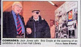 Jack Jones and Bob Doyle at the Linen Hall Library exhibition